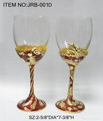 Goblet with metal and epoxy