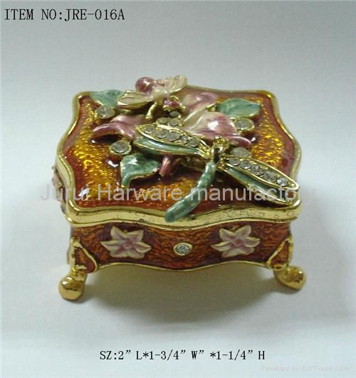 Pewter jewelry box with colorful epoxy 2