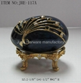 Pewter jewelry box with colorful epoxy 5