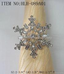 Alloy snowflake napkin ring