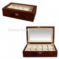 Mahogany  10PC.Wooden Watch Box