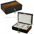 Tiger Burl 10PC.Wooden Watch Box