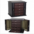 Diva Dark Mahogany Wooden Jewelry Box