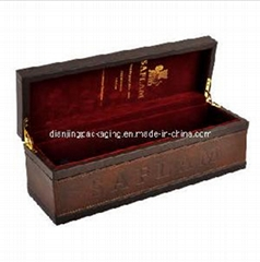 Vintage Luxury Wooden Wine Box Set