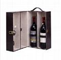 Luxury Ve  et Wooden Wine Box Set