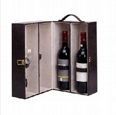 Luxury Velvet Wooden Wine Box Set
