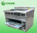 Electric cooker range with 6 burner and an oven 2