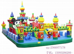 Two-channel inflatable castle, slide