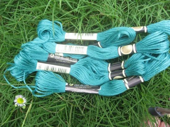 100% polyester cross stitch thread 1