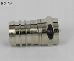 F Connector with Superior RF Performance and Nice Insertion Made of Brass