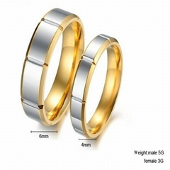 Engagement and wedding couple rings for beloved ones