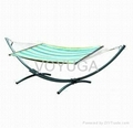 Arc Hanging Hammock with Iron Stand