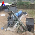 Rotating cylinder drying machine