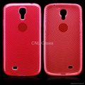 TPU case for Samsung S4/I9500 with fingerprint pattern