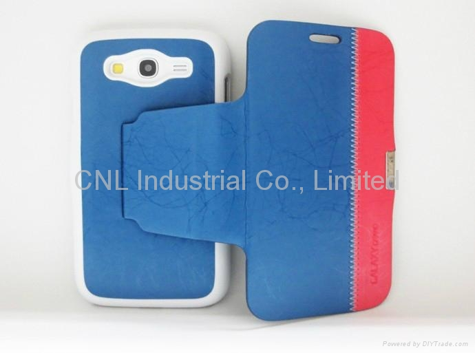 Tree root pattern folio cover for Samsung i9082 Galaxy Grand Duos with ...