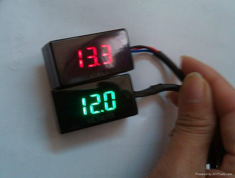 3 Cable Motorcycle Voltmeter