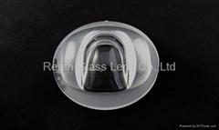 high power integrated led street light glass lens