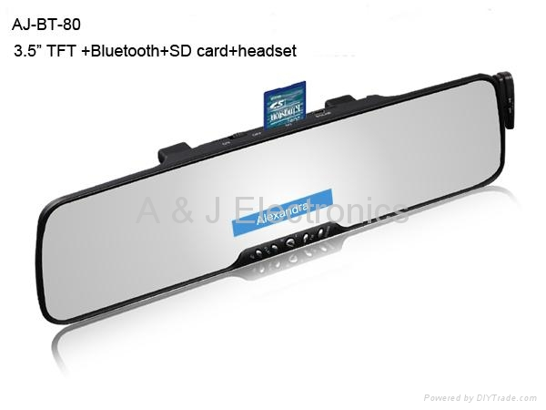 in car Bluetooth hands free kits with SD card play 1