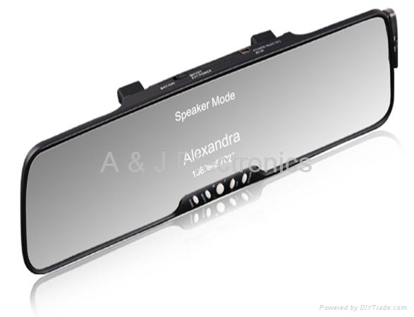 3.5''TFT Bluetooth rearveiw mirror car kits  1