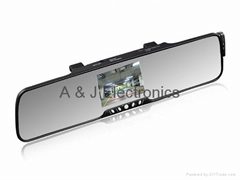 Bluetooth rear view mirror with back-up camera monitor