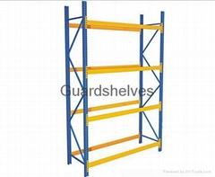 Heavy duty warehouse shelf