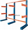 Cantilevered storage rack
