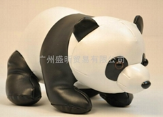 PU皮熊猫公仔