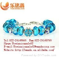 2013 wholesale colored glass craft costume jewelry handmade glass beads bracelet