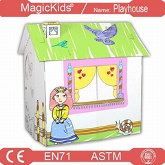 Cuddy House Cardboard /Outdoor Playground Doll house