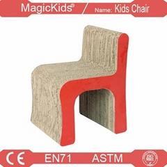 H-shaped Letter Kids Corrugateda Chair