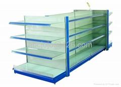 Supermarket Shelf with Glass