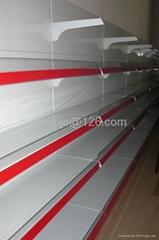 Supermarket Shelf with steel backboard