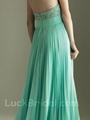Glamour Mint Pleated Chiffon Sweetheart Evening Dress Sweep Train Beading Evenin 2