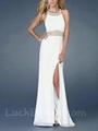 Glorious Halter Chiffon Prom Dress White