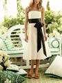 Fashion White A Line Bridesmaid Dress