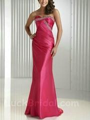 Elegant Sheath Sweetheart Evening Dress Fuchsia Sequined Evening Gown