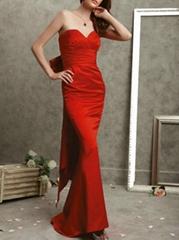 Alluring Mermaid Bow Evening Dress Sweetheart Taffeta Evening Gown