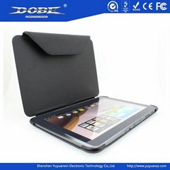 Black Note-book PU Protective Case with a Folding Stand for Samsung Galaxy N800