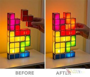 Diy Led Tetris Lamp Night Light Led Toys For House