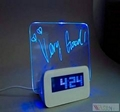 Stylish LED Light Message Board Digital Alarm Clock 4 Port USB Hub Calendar