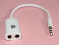 音频线一分二 3.5mm耳机一分二转接头