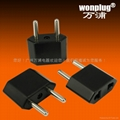 USA/Euro to Euro (diamond shape) Plug Adapter