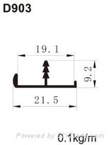 edge banding aluminum profile for kitchen door