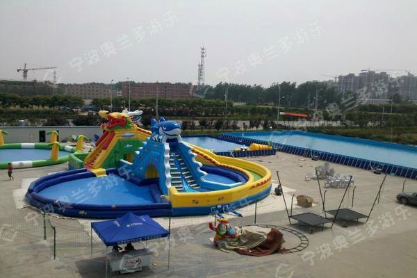 支架游泳池海豚滑梯 3