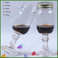 Redneck Mason Wine Glass 16 oz