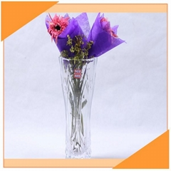 Classic Flower Clear Glass Vase