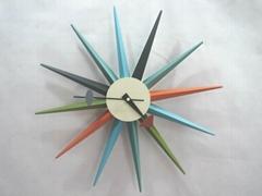 Sunburst clock,modern walk clock,clock like sunburst