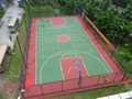 Silicon PU Basketball Court Flooring Materials 2