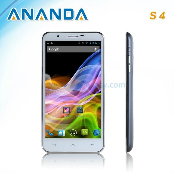 5.7inch HD MTK6589 Quad Core Android 4.2 3G Dual SIM Mobile Phone Galaxy S4  1