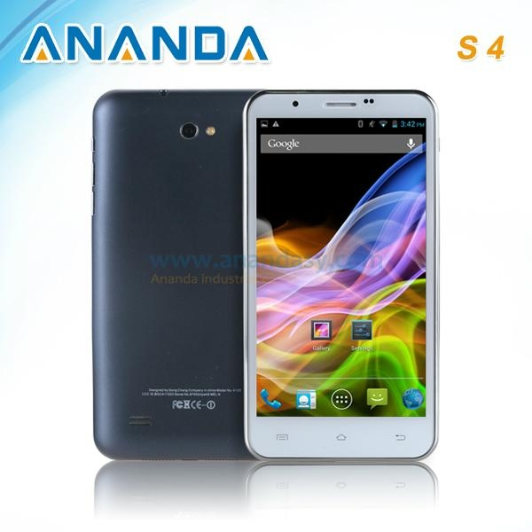 5.7inch HD MTK6589 Quad Core Android 4.2 3G Dual SIM Mobile Phone Galaxy S4  3